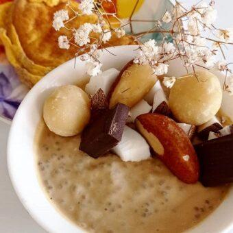 pudding de chía con café